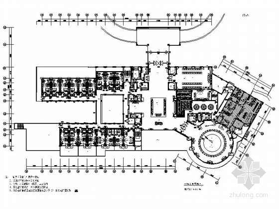 U型景观泳池结构施工图资料下载-[东莞]智能化高档现代国际商务型酒店CAD装修施工图(含全套方案)