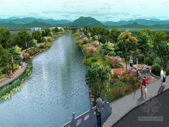 [杭州]现代式生态滨河游园景观规划设计方案