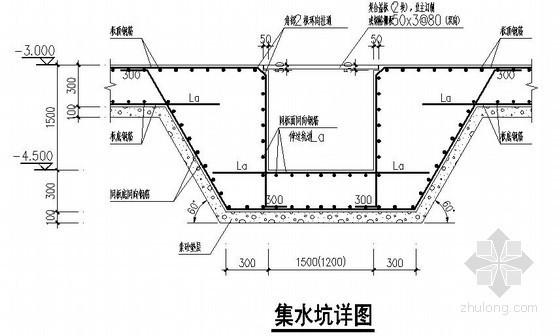 排水沟、集水坑、地下室外墙节点构造详图