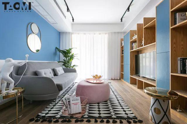 """70㎡两居室巧用最IN""""脏粉色"""",把春天装进家里"""
