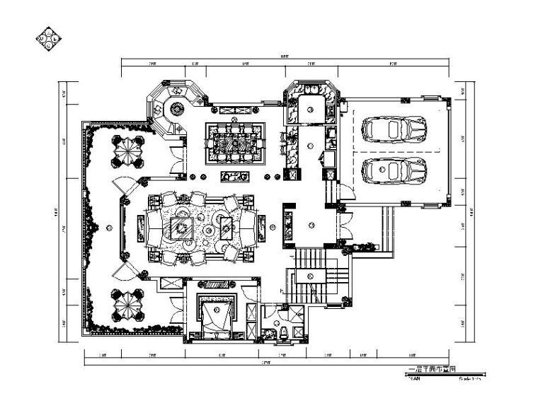[重庆]欧式风格别墅建筑CAD施工图(含效果图)