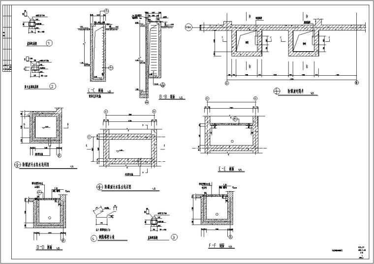 地下室人防设计施工图及设计说明CAD_2