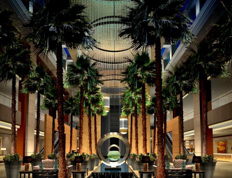 23000平米酒店空间设计施工图(附效果图+材料表)_7