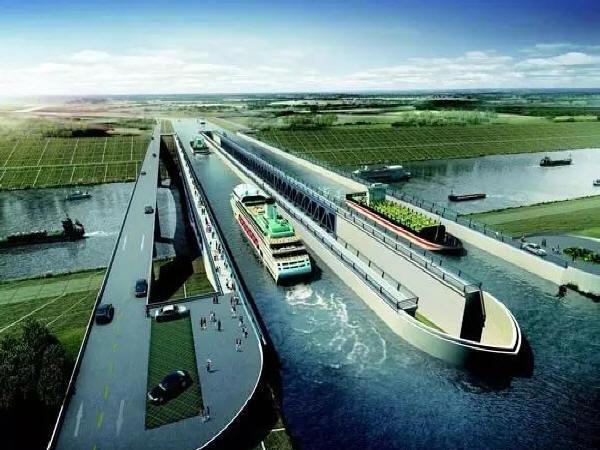 世界级水桥工程——引江济淮工程淠河总干渠渡槽桥
