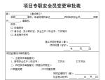 【B类表格】项目专职安全员变更审批表
