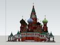 俄罗斯大教堂建筑设计模型