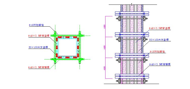 柱钢筋绑扎示意图_主要分部分项工程施工方案和技术措施——土建施工方案(141页 ...