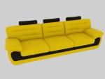 黄色沙发3D模型下载