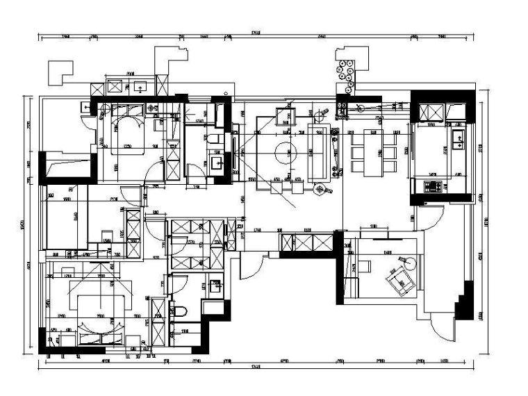[杭州]新作!美式样板间设计施工图(含实景图)