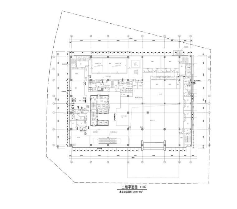 [重庆]高层知名玻璃幕墙酒店建筑立面设计施工图(含效果图)-高层知名玻璃幕墙酒店建筑平面图