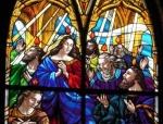 欧洲教堂彩色图案玻璃