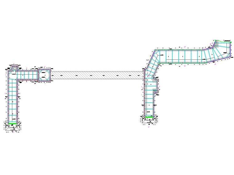 复杂地质条件20米深基坑开挖支护及降水施工图(咬合桩加内支撑)-第一道支撑平面布置图
