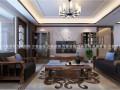 济南绿地隆悦公馆2期装修设计145平新中式风格装修效果图
