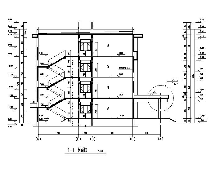 [施工图][宁夏]四层钢筋框架结构厂房办公楼建筑施工图(含水暖电图纸)