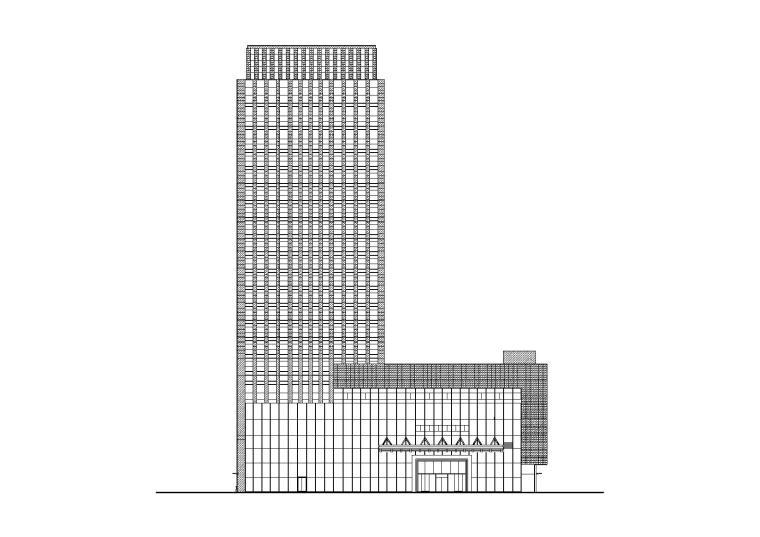 [重庆]某知名地产城市综合体高层酒店建筑施工图(CAD)