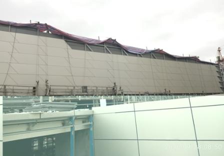 折线型铝板幕墙施工方法创新