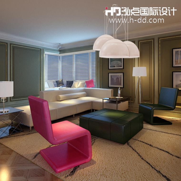 #我的年度作品秀#奢华公寓之彩色欧式_5