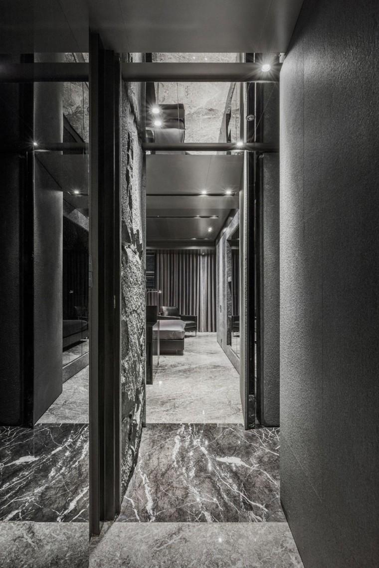 台北黑色调的公寓_7