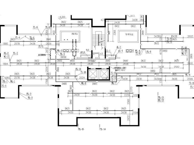 17层建筑给排水毕业设计(包含生活给水系统、污水系统、废水系统)-j建筑给排水毕业设计图纸-Model4.jpg