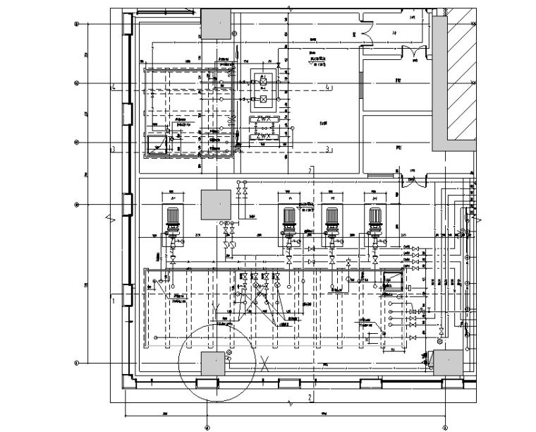 消防、生活泵房平面布置图