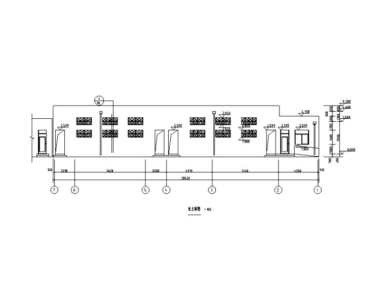 [聊城]单层框架结构公厕施工图(建筑结构)