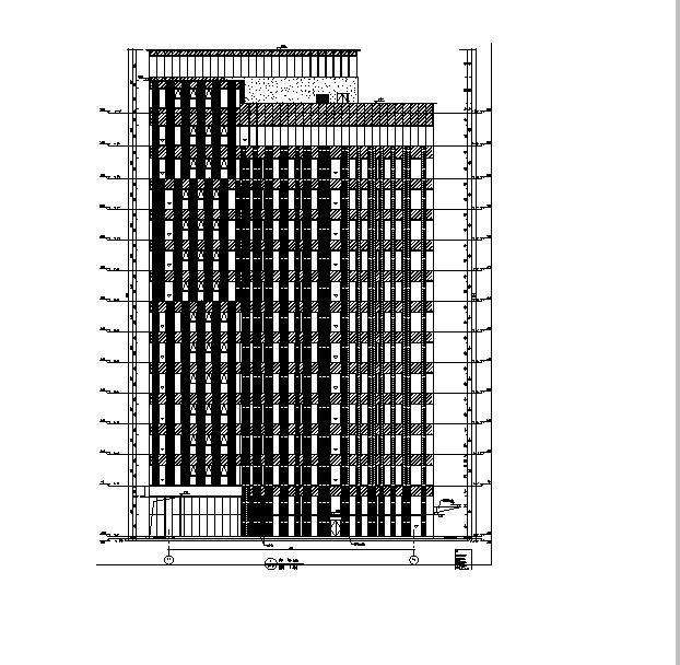 [上海]13栋文件框剪高层图纸建筑全结构施工图住宅哪里专业招标找在图片