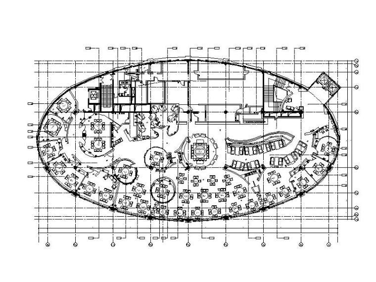 高级食府餐厅全套CAD施工图(含实景图)