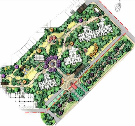 [长春]城市贸易中心公园景观住宅景观规划设计方案_3