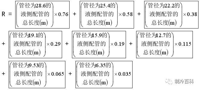 多联机制冷系统冷媒追加公式及标准_2