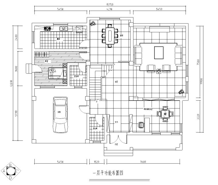 [海南]某中式三层别墅室内设计施工图及效果图