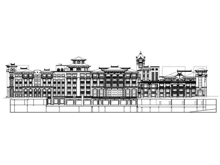 青岛紫檀山酒店公寓酒店建筑施工图