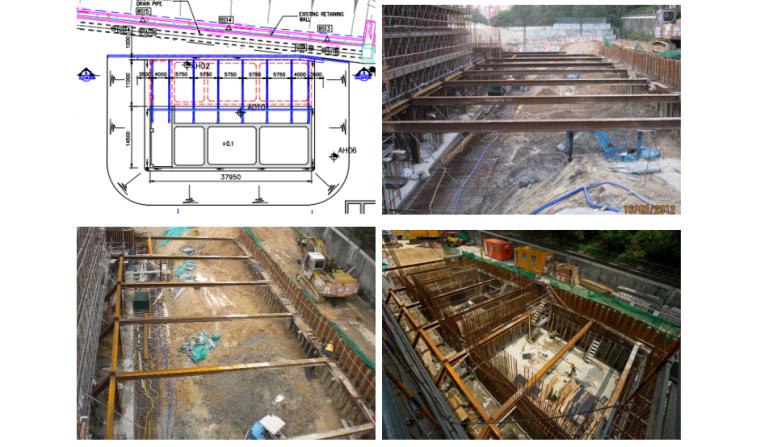 进行钢管桩侧土体开挖及结构施工