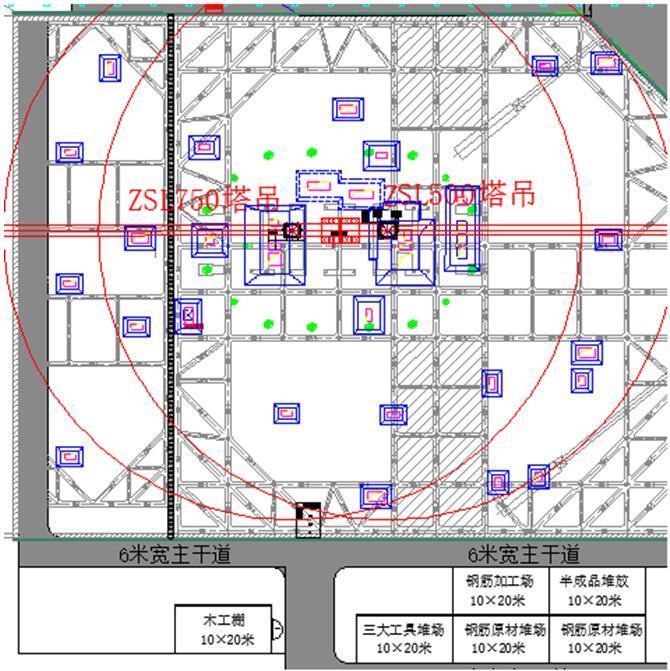 [天津]超高层双子塔项目动臂塔塔吊基础施工方案