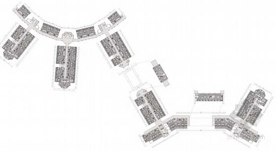 3套温泉主题度假区规划平面图