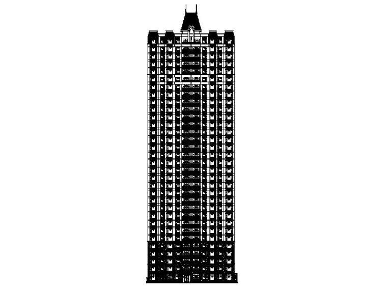 [重庆]知名地产中欧结合风格大型高层住宅施工图(16年最新)
