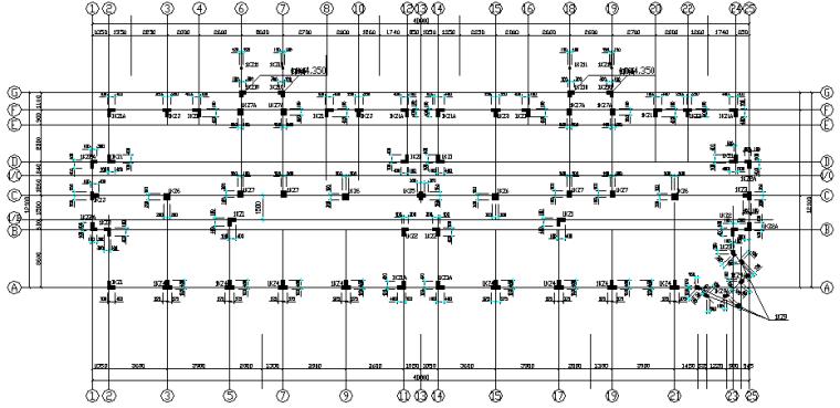 异型柱框架结构住宅施工图(CAD,24张)