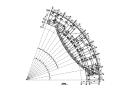 9层弧形框架结构办公楼结构施工图(CAD、14张)