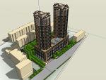 高层塔楼建筑模型设计