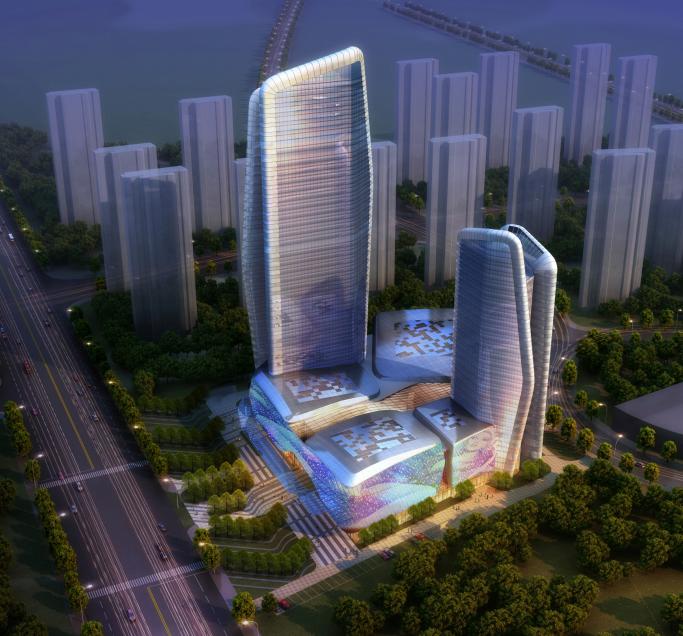 超高层现代风格星际酒店建筑设计方案文本(含多套方案)