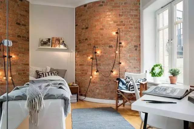 室内装修不一定要刷白墙,砖墙打造不一样的感觉!