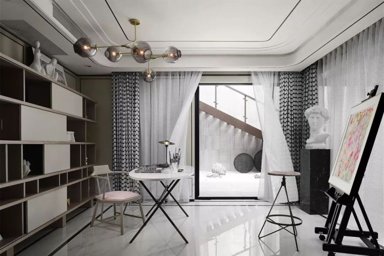 质朴材质也能构建空间气质,顶级别墅样板间设计_12