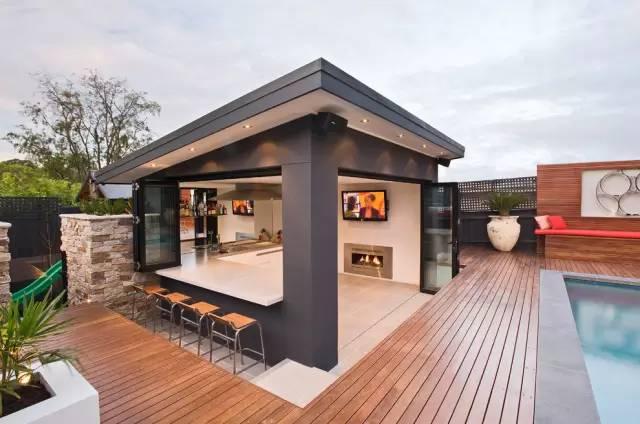赶紧收藏!21个最美现代风格庭院设计案例_84