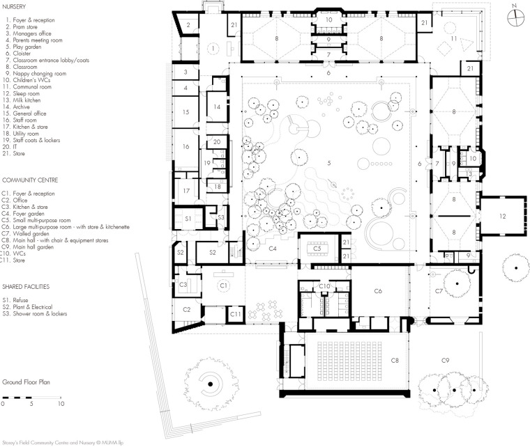 英国剑桥大学社区中心与托儿所平面图(17)