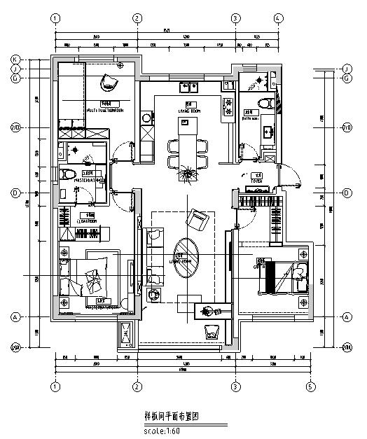 【辽宁】新视觉主义住宅设计施工图(附效果图)_3