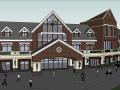 英式风格商业街建筑模型设计