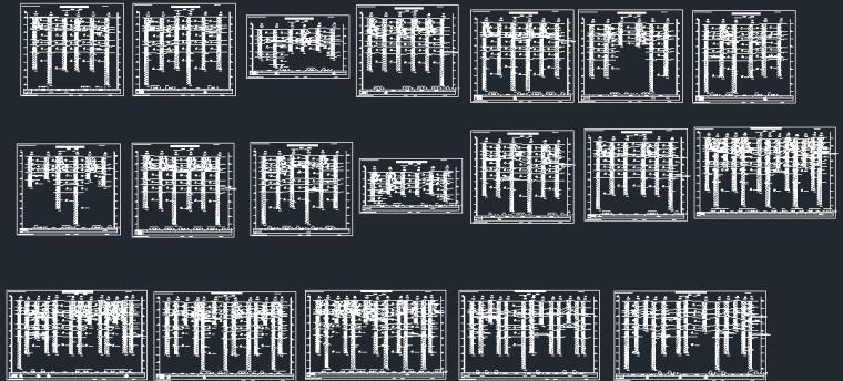 [汝州]多栋住宅楼项目岩土工程勘察报告剖面图总图