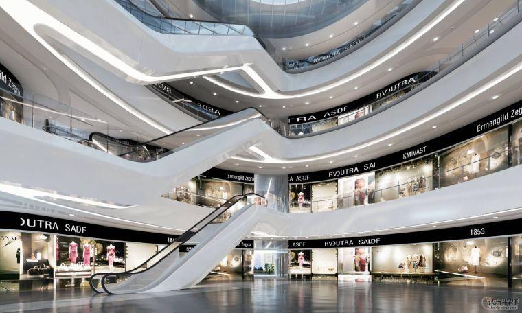 扎哈.哈迪德--北京银河SOHO室内效果图分享