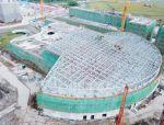 浦东海昌极地海洋公园钢结构竣工倒计时,今年暑期开园!