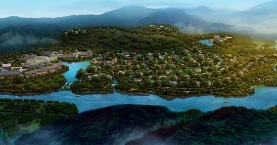 [江西]新中式风格道教养生休闲度假基地规划设计方案文本-新中式风格道教养生休闲度假基地效果图