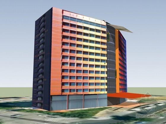 彩色建筑SketchUp模型下载